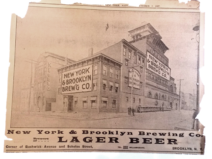 New York & Brooklyn Brewing Company Ad, 1907