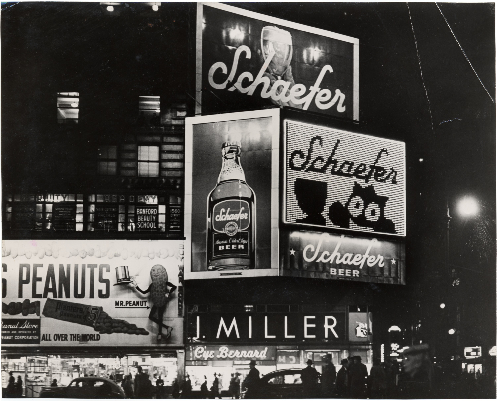Schaefer billboards, Times Square, 1950's