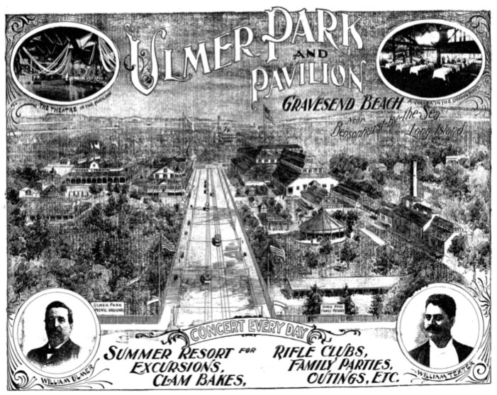 Ulmer Park advertisement in The Brooklyn Eagle, 1896