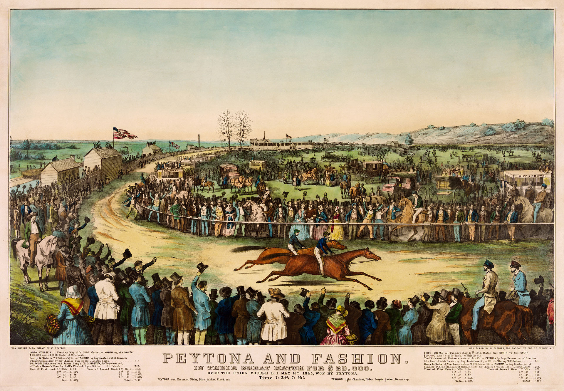 Fashion meets Peytona, 1845